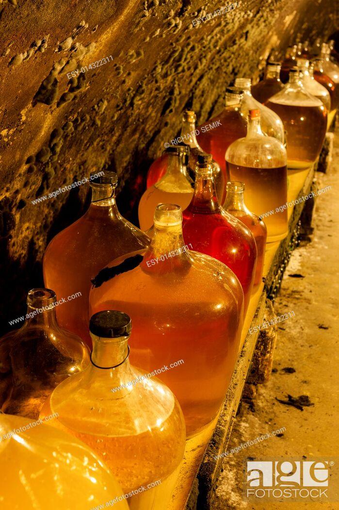 Stock Photo: wine cellar, Czech Republic.