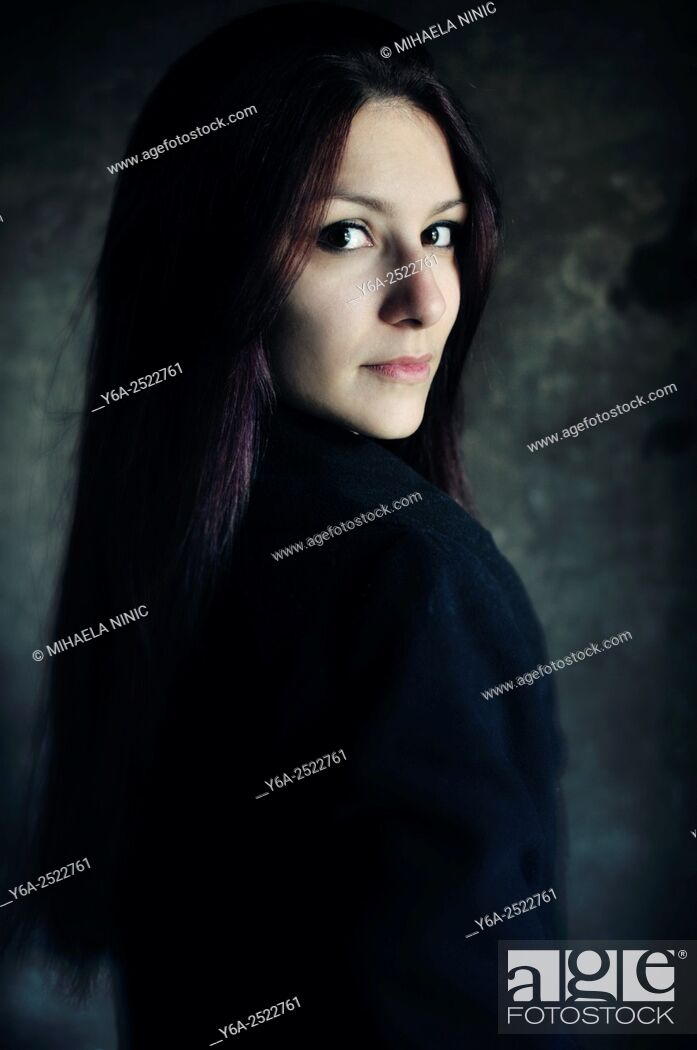 Stock Photo: Young adult woman portrait.