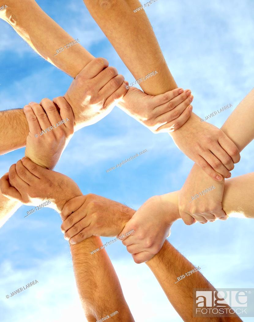 Stock Photo: Teamwork, unity.