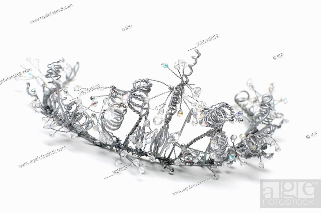 Stock Photo: Bride or bridesmaid wedding tiara.