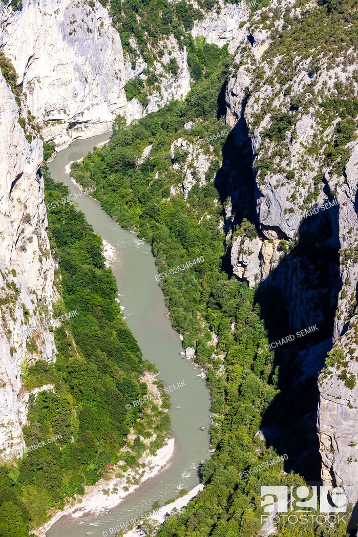 Stock Photo: Verdon Gorge, Provence, France.