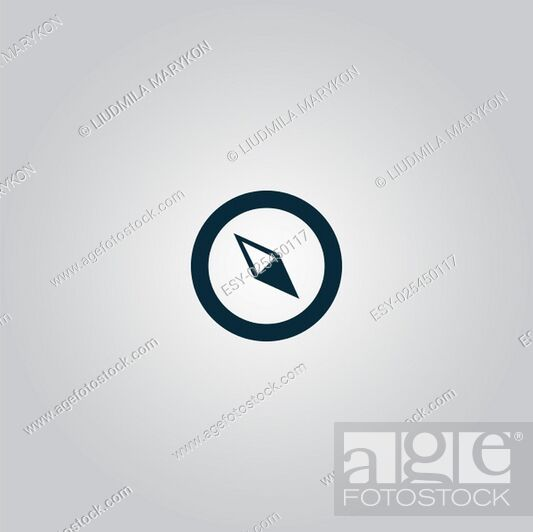 Imagen: Compass. Flat web icon or sign isolated on grey background. Collection modern trend concept design style vector illustration symbol.