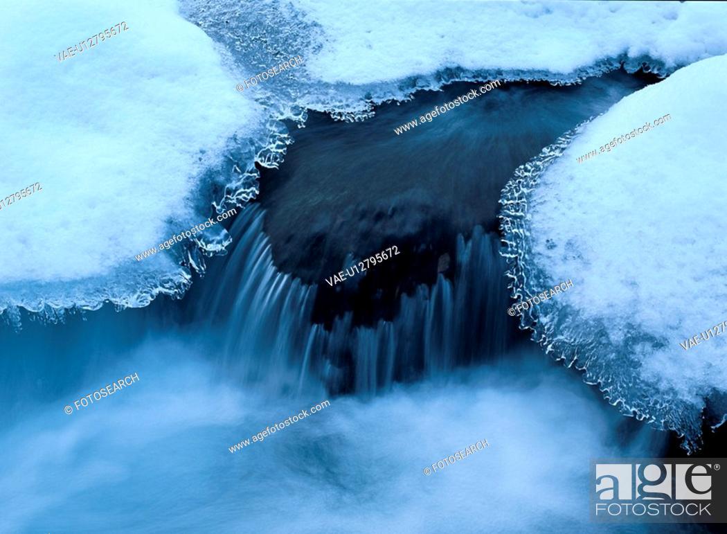 Stock Photo: Stream Near Ice Sheet.