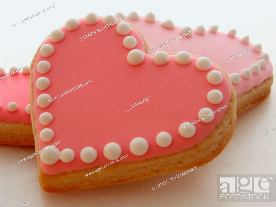 Stock Photo: Heart shaped cookies.