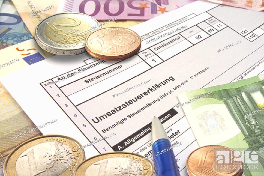 Stock Photo: German tax return.