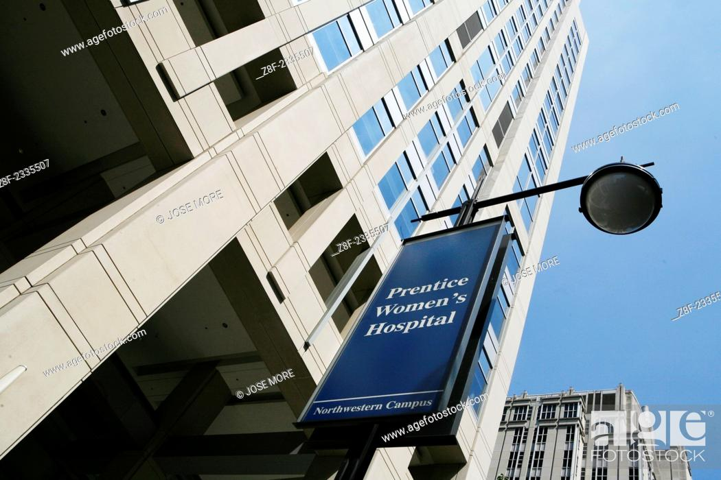 Northwestern Hospital in Chicago, Stock Photo, Picture And