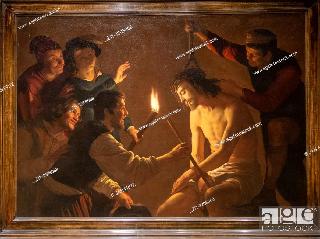 Stock Photo: The mocking of Christ from Gerard van Honthorst.