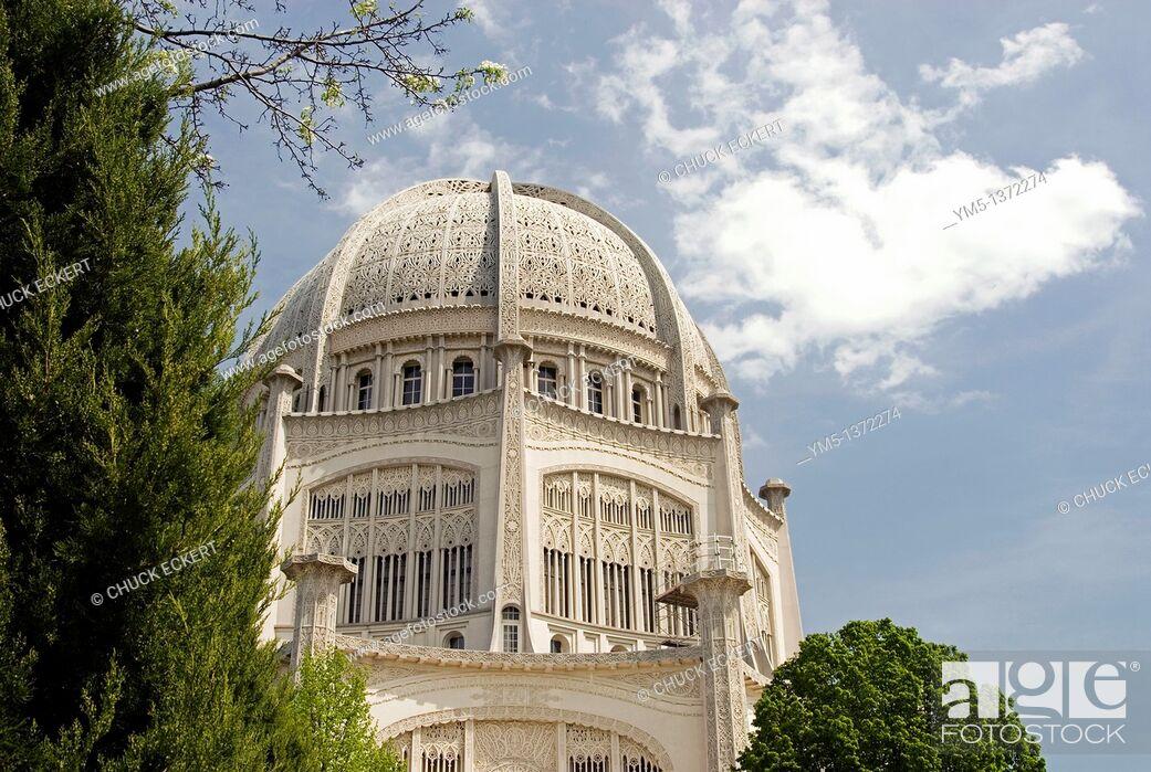 Stock Photo: Baha'i Temple in Wilmette, Illinois, USA.