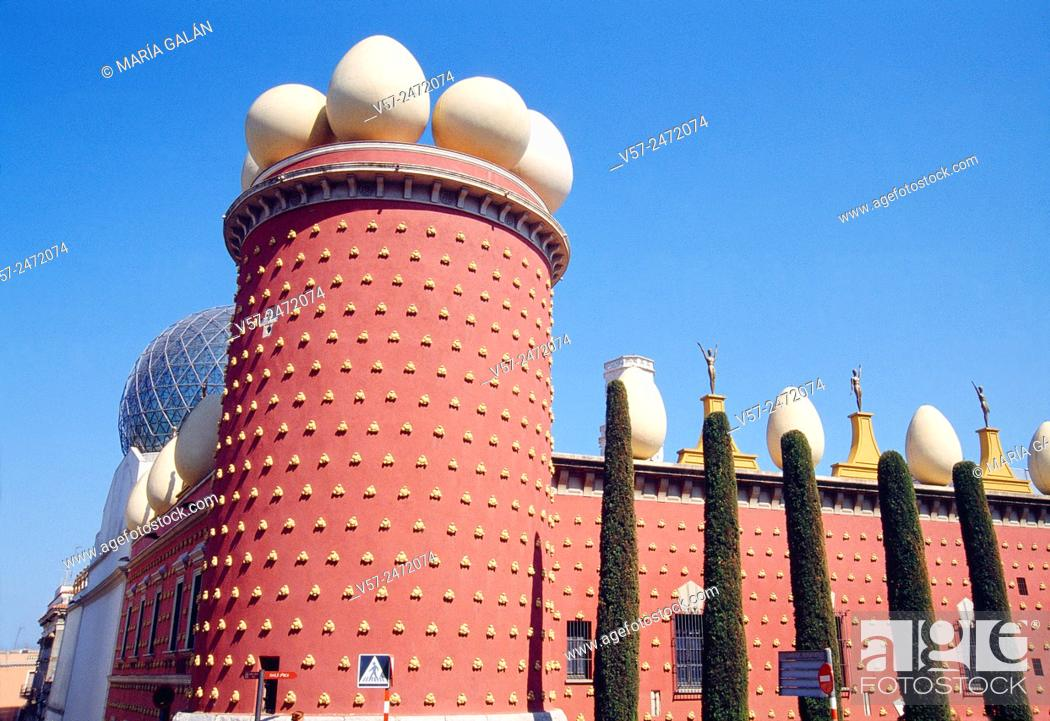 Museo Dali Figueres.Galatea Tower Teatro Museo Dali Figueras Gerona Province