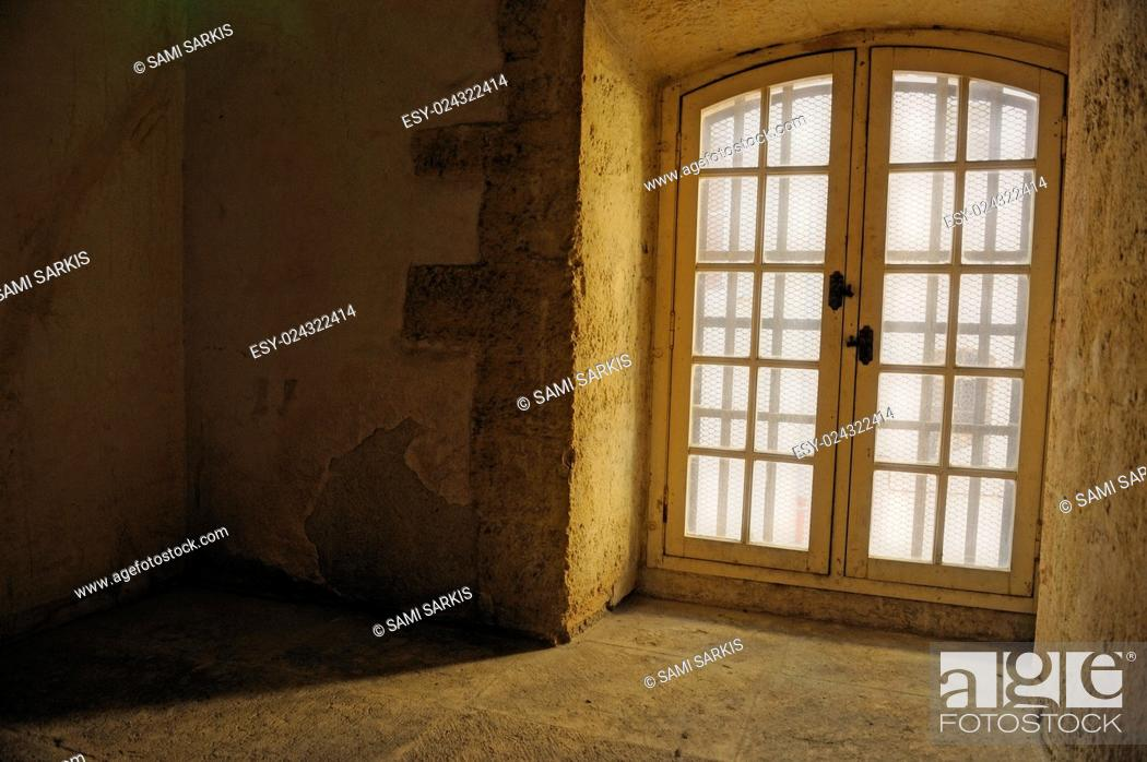 Stock Photo: Window, Vieille Charité, Marseille, France.