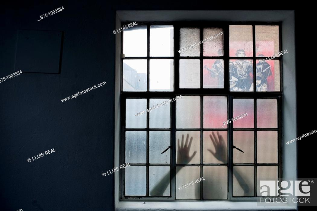 Stock Photo: Behind the window.