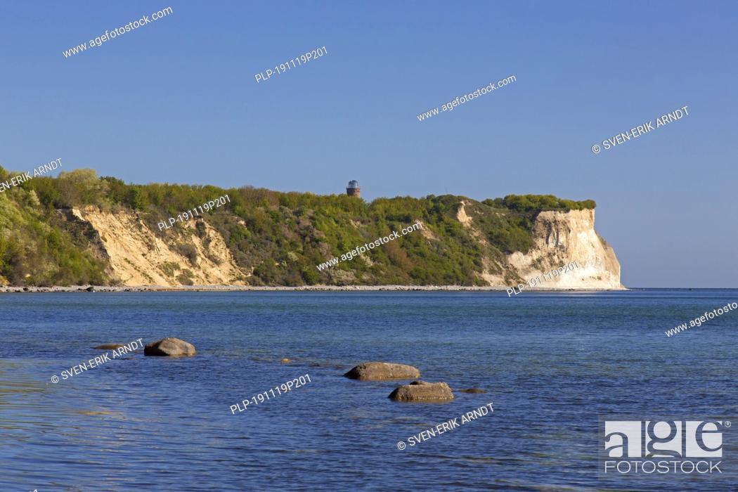 Stock Photo: White sea cliffs at Cape Arkona / Kap Arkona, Putgarten, Wittow peninsula on the island of Rügen in Mecklenburg-Vorpommern, Germany.