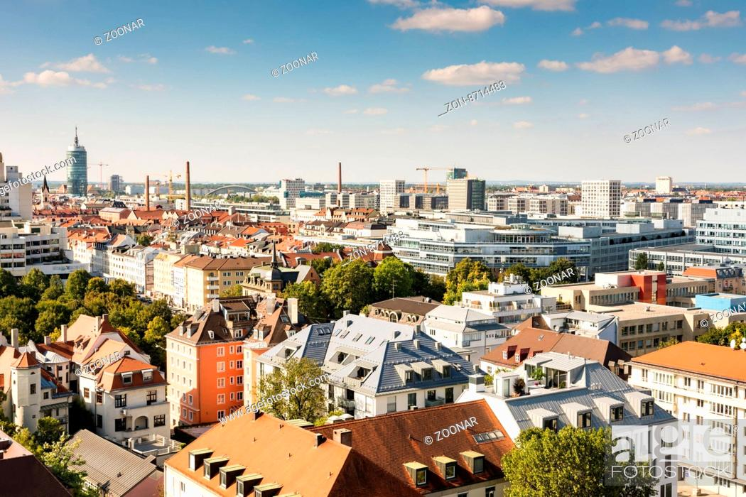 Stock Photo: Aerial view over Munich.