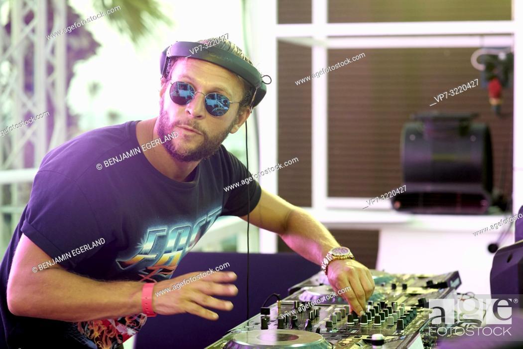 DJ Sebastian Bronk performing at beach club Starbeach