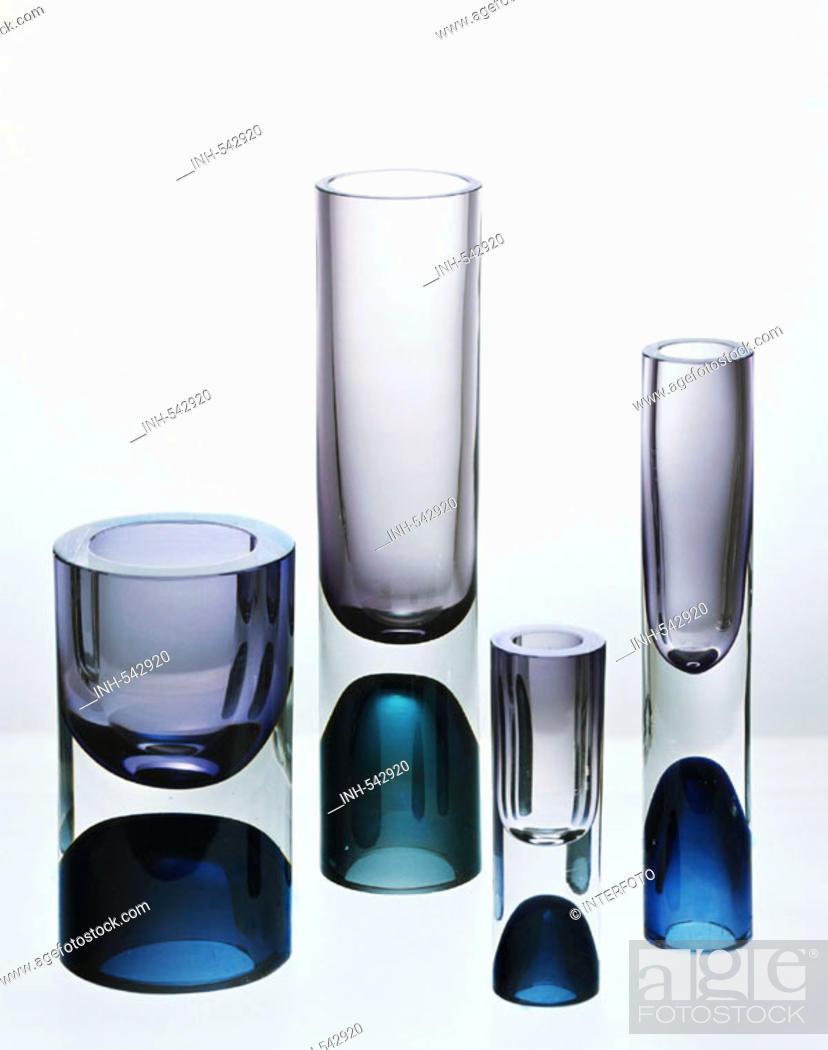 Fine Arts Glass Vases Design By Tapio Wirkola Finland 1957 Die Neue Sammlung Munich Stock Photo Picture And Rights Managed Image Pic Inh 542920 Agefotostock