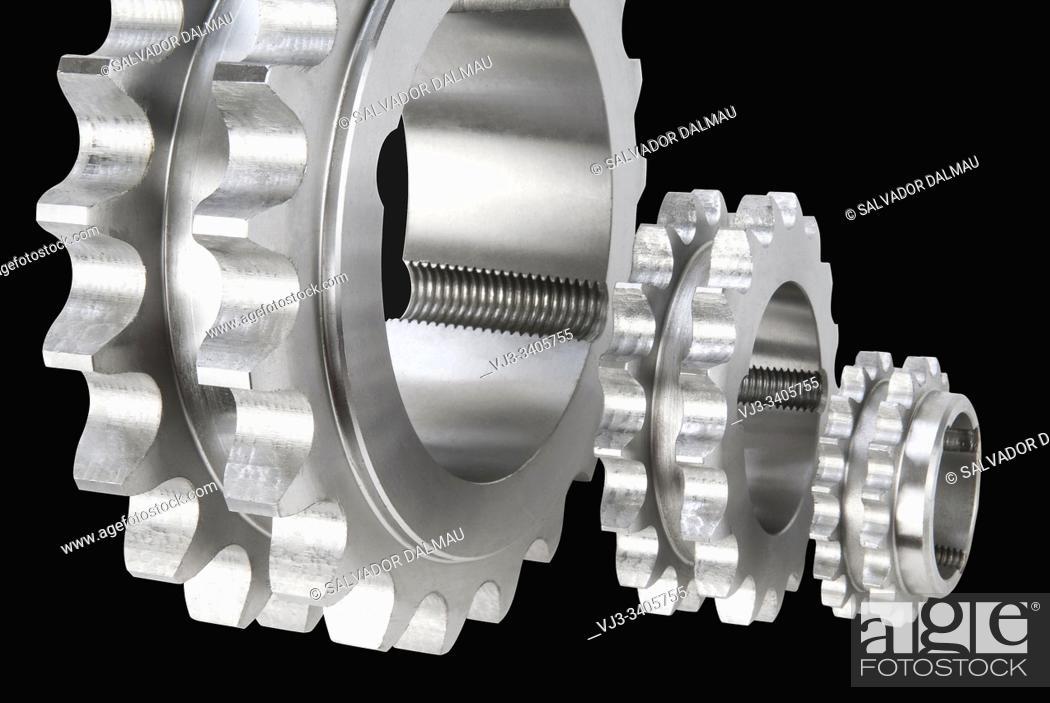 Stock Photo: tooth pulleys, girona, catalonia, spain, .