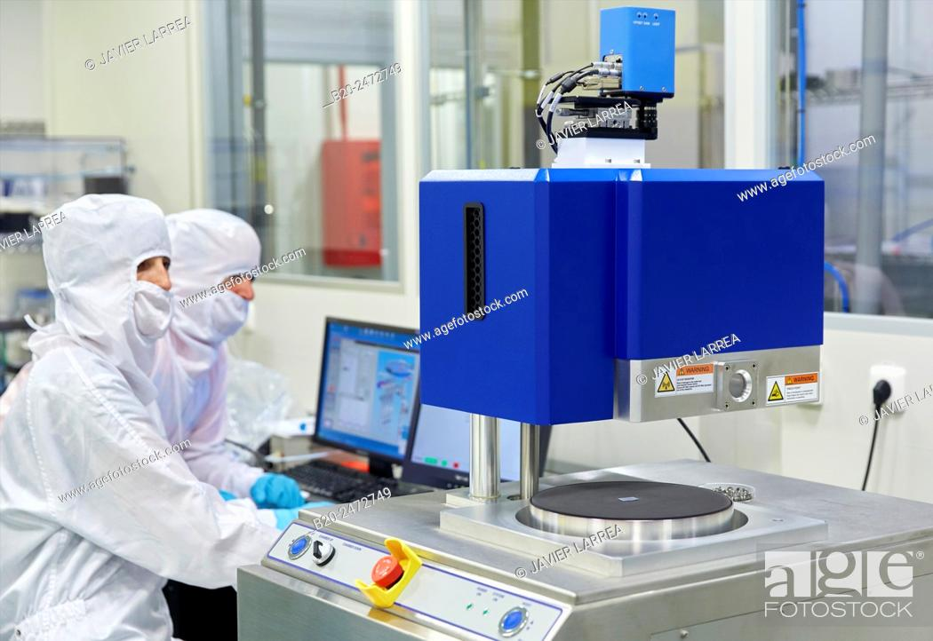Stock Photo: Oxford Instruments Reactive Ion Etcher. Cleanroom. Nanotechnology. Laboratory. CIC nanoGUNE Nano science Cooperative Research Center. Donostia.