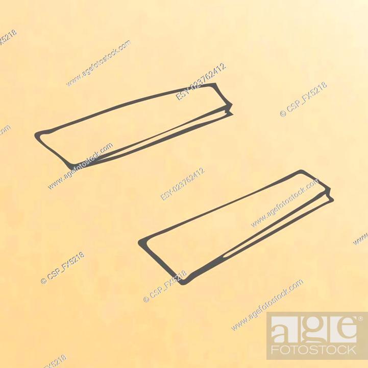 Stock Vector: cartoon of three brown paper bags.