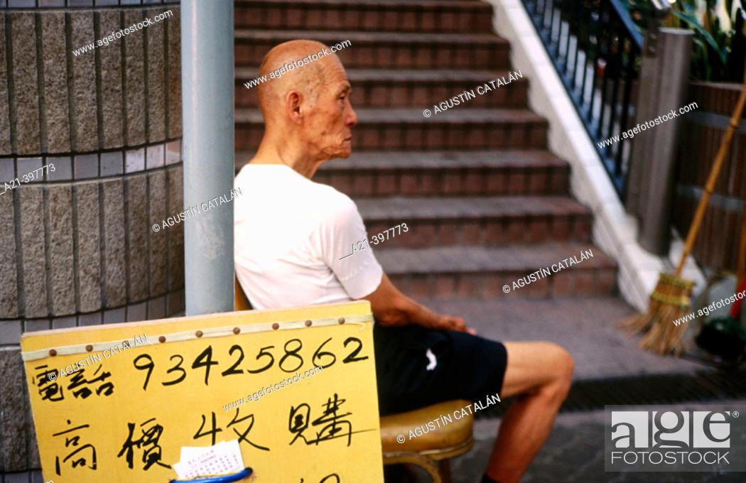 Stock Photo: Old person. Hong Kong. China.