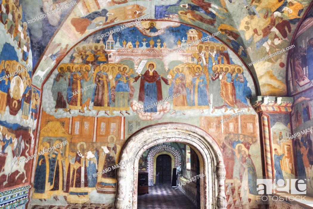Imagen: Frescoes, Elijah the Prophet Church, UNESCO World Heritage Site, Yaroslavl, Yaroslavl Oblast, Russia.