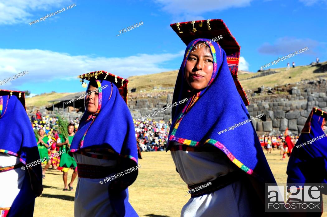 Stock Photo: Cusco,Peru-June 24,2013: Inti Raymi festival is the Sun Festival of the Incas. Every year 24 th of june they celebrate this festival at Cusco.