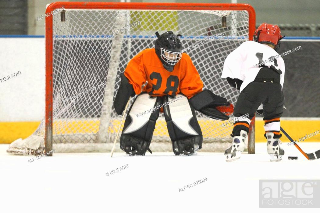 Stock Photo: Hockey Players.