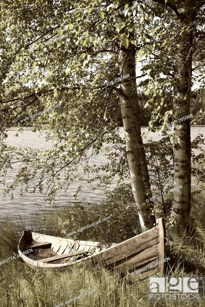 Stock Photo: Rowboat. Finland.