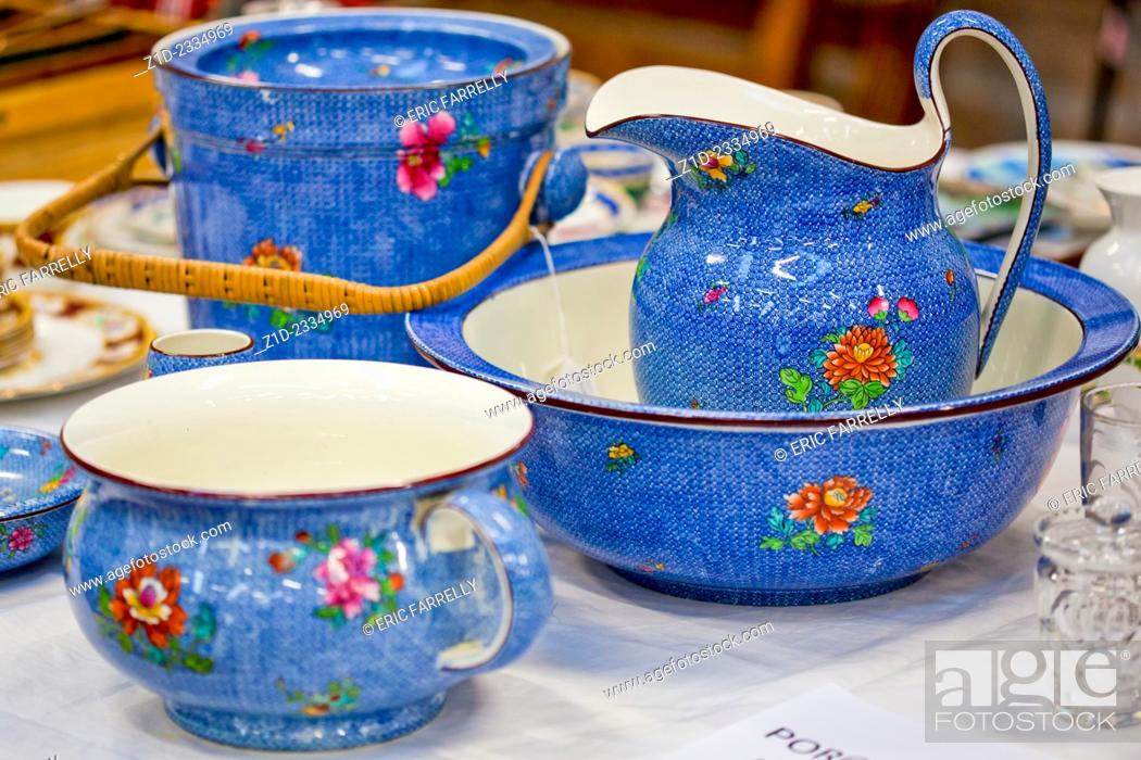 Stock Photo: Poreclain for sale. Auction Rooms Montrose Scotland UK.