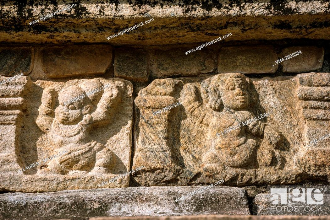 Stock Photo: Vamana in bas-relief at the Raja Vaishyabhujanga Mandapaya or the Council Chamber, built by king Parakramabahu. Ancient City of Polonnaruwa.