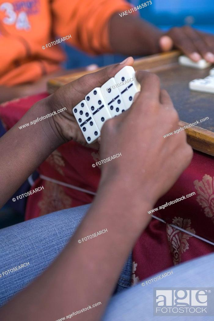 Stock Photo: Casual Clothing, Gamble, Domino, Close-Up, Adults Only.