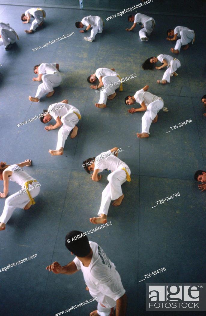 Stock Photo: Capoeira. Rio de Janeiro, Brazil.