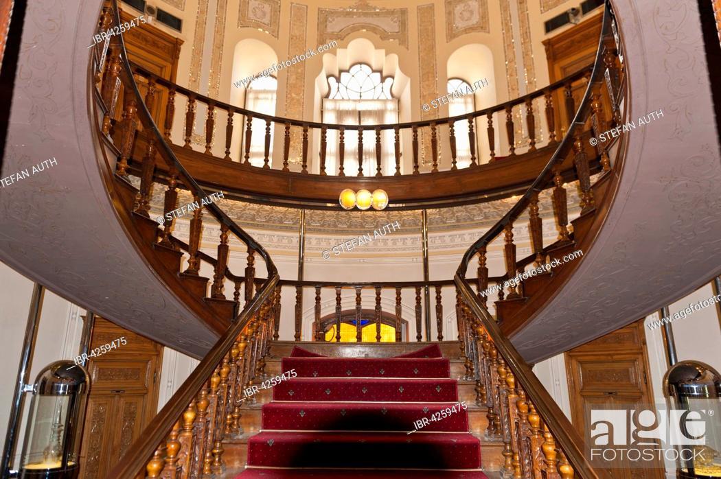Stock Photo: Round staircase, Abgineh Museum, Iranian Museum of Glass and Ceramics, Tehran, Iran.