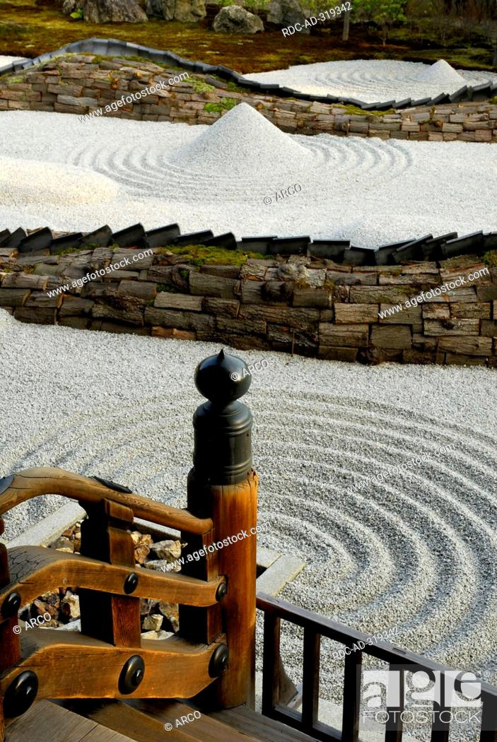 Sand Garten Gravel Hill Zen Garden Kodai Ji Temple Kyoto Japan