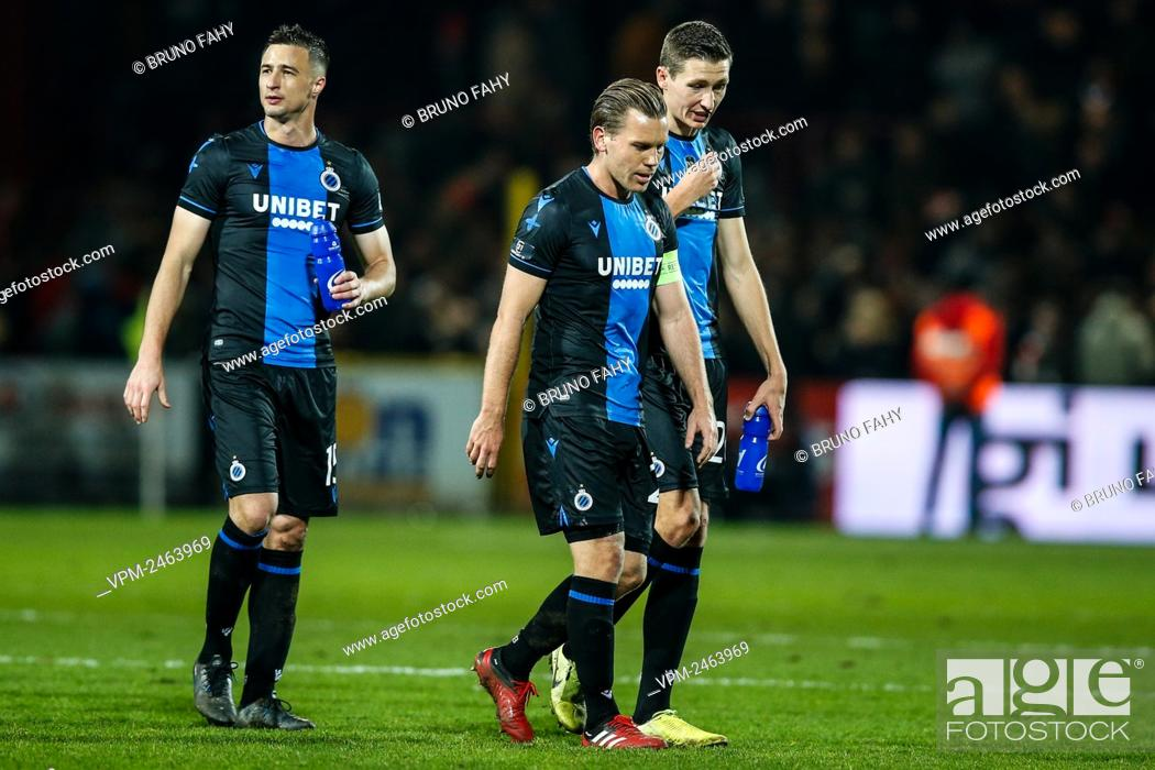Club s Players Look Dejected After A Soccer Match Between KV Kortrijk And Club Brugge KV Stock Photo Picture And Rights Managed Image Pic VPM Agefotostock