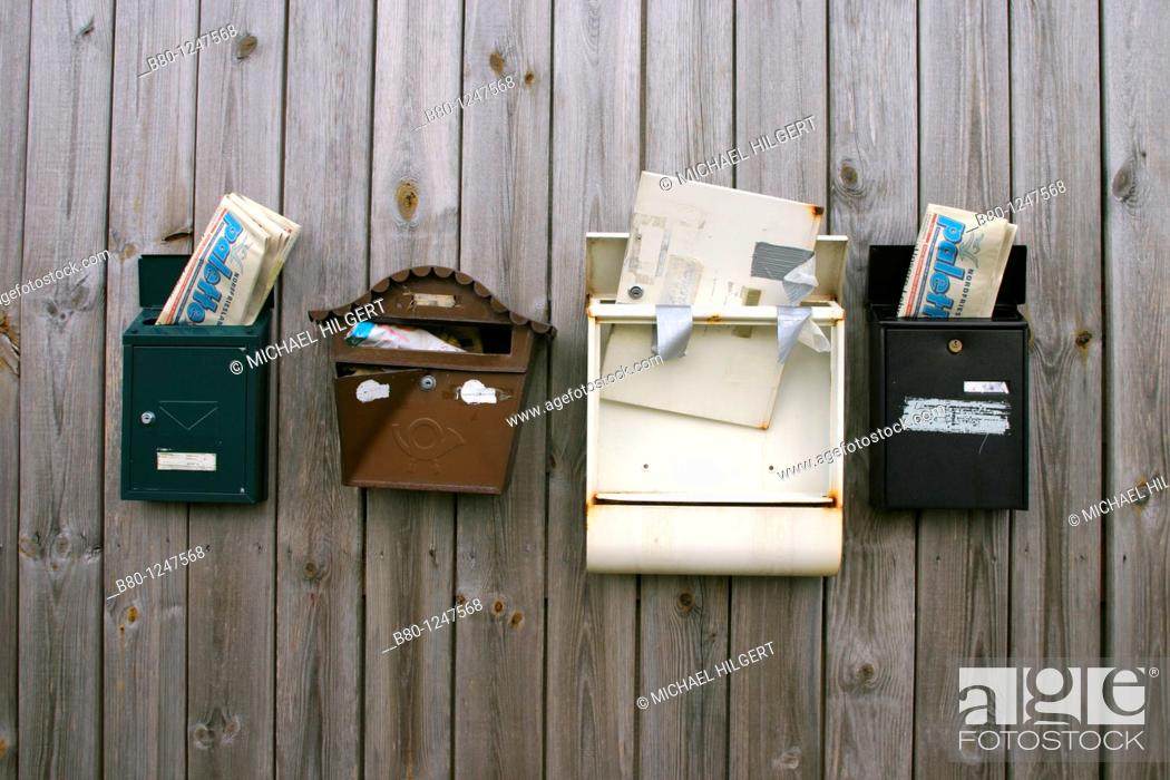 Stock Photo: Postboxes, Kiel, Germany.