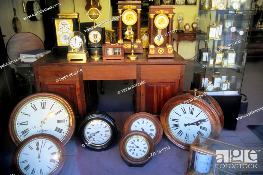 Stock Photo: Clock shop, Amsterdam, Netherlands.