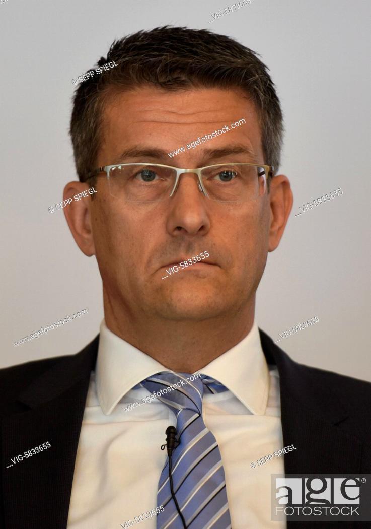 Imagen: Deutschland, Frankfurt, 08.06.2017 Dirk KALIEBE, Finanzvorstand der Heidelberger Druckmaschinen AG, vor der Bilanz-Pressekonferenz - FRANKFURT, Germany.