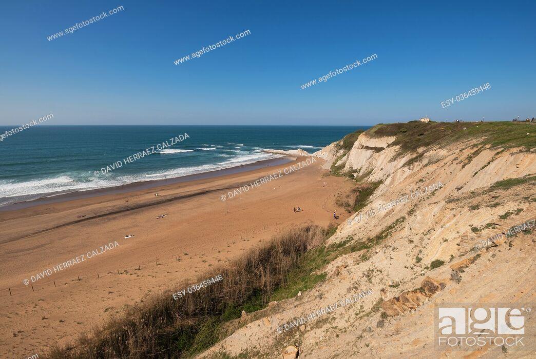 Stock Photo: Sopelana beach, Basque country, Spain.