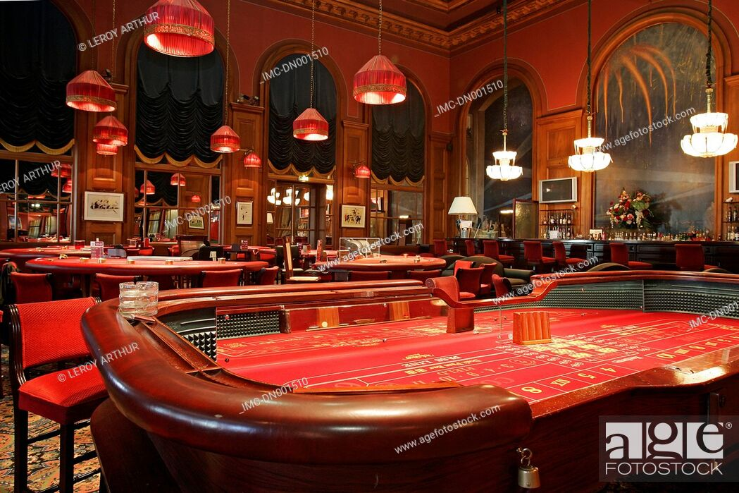 Imagen: France, Normandy, Deauville, the casino, card table.