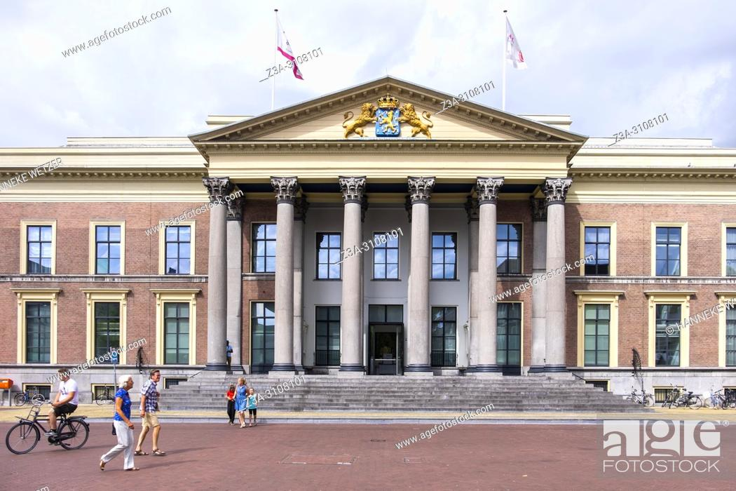 Imagen: Palace of Justice in Leeuwarden, Friesland, The Netherlands, Europe.