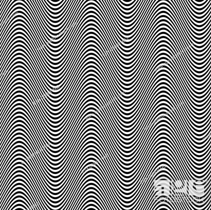 Stock Vector: Monochrome wavy pattern.