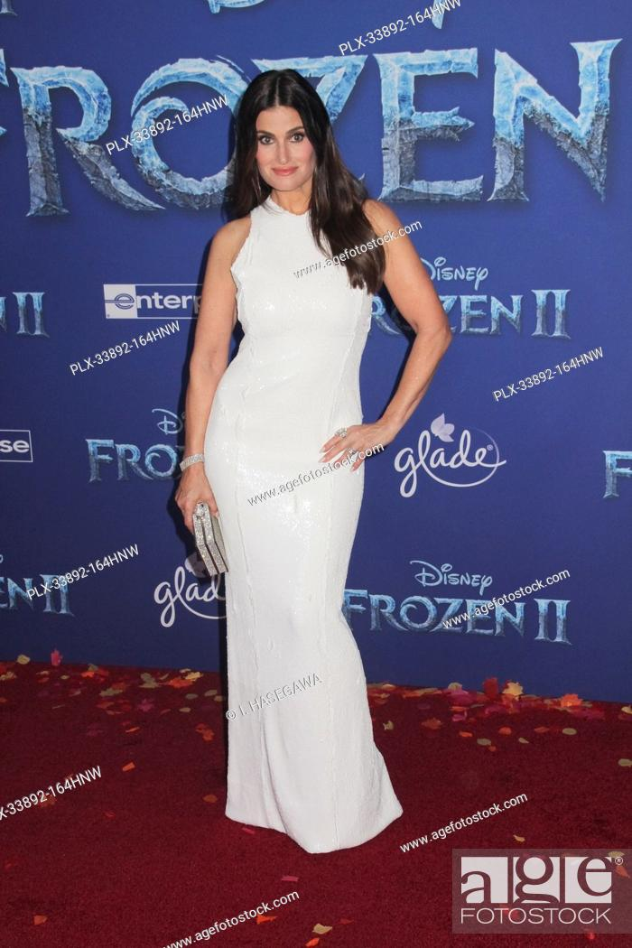 """Stock Photo: Idina Menzel 11/07/2019 The World Premiere of """"""""Frozen 2"""""""" held at the Dolby Theatre in Los Angeles, CA. Photo by I. Hasegawa / HNW / PictureLux."""