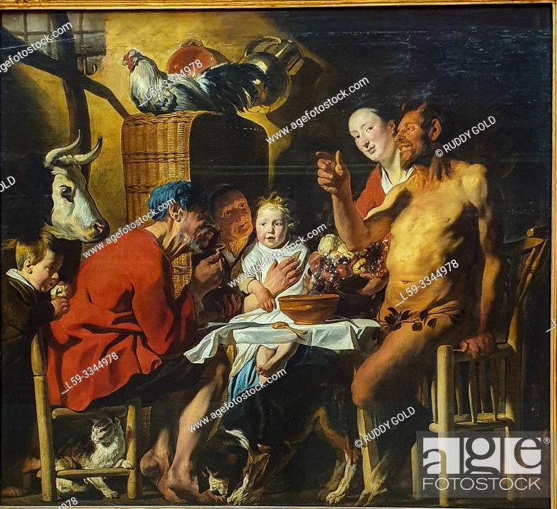 Imagen: 'The Satyr and the Peasant', 1620/21, by Jacob Jordaens (1593-1678).