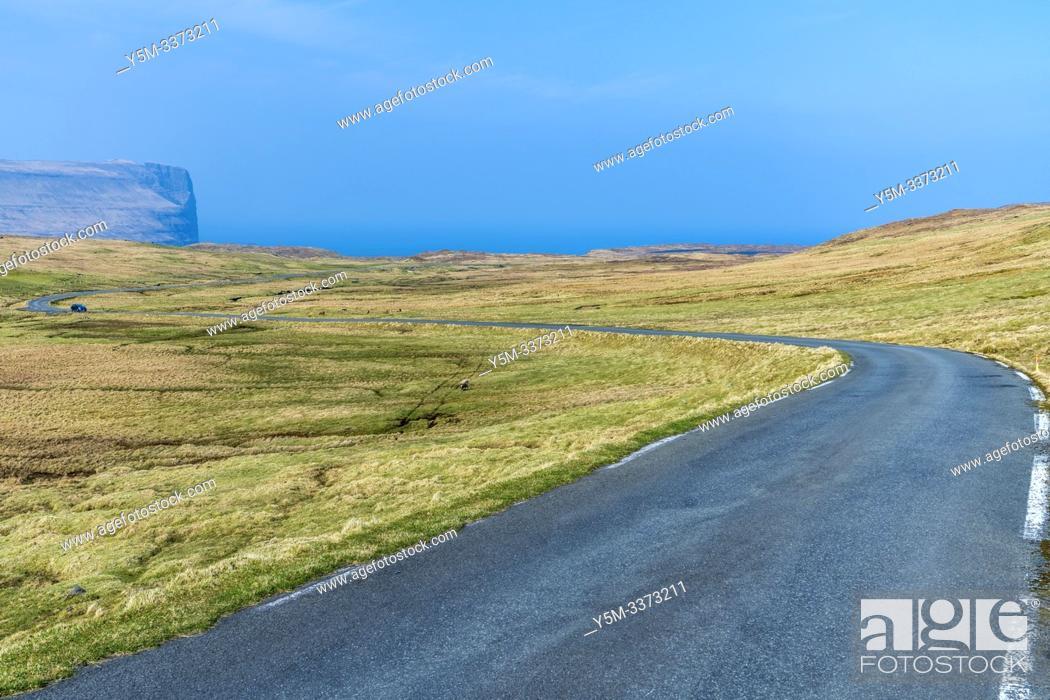 Stock Photo: Eiðiskollur, Eysturoy Island, Faroe Islands, Denmark, Europe.
