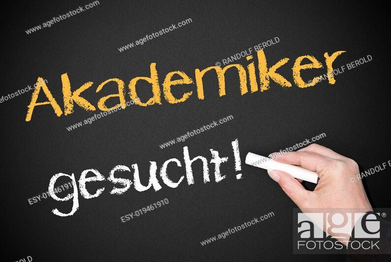 Stock Photo: Akademiker gesucht !.