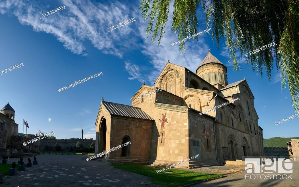 Stock Photo: Pictures & images of the exterior of the Eastern Orthodox Georgian Svetitskhoveli Cathedral (Cathedral of the Living Pillar) , Mtskheta, Georgia (country).